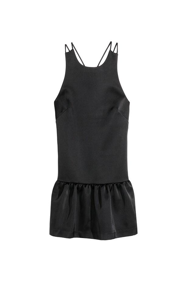 "Satin dress, $49.95, <a href=""http://www.hm.com/us/product/38139?article=38139-A"">H&M </a>"