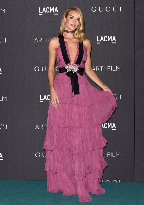 <strong>ROSIE HUNTINGTON-WHITELEY IN GUCCI</strong> <br><br> Attending LACMA, November 7.