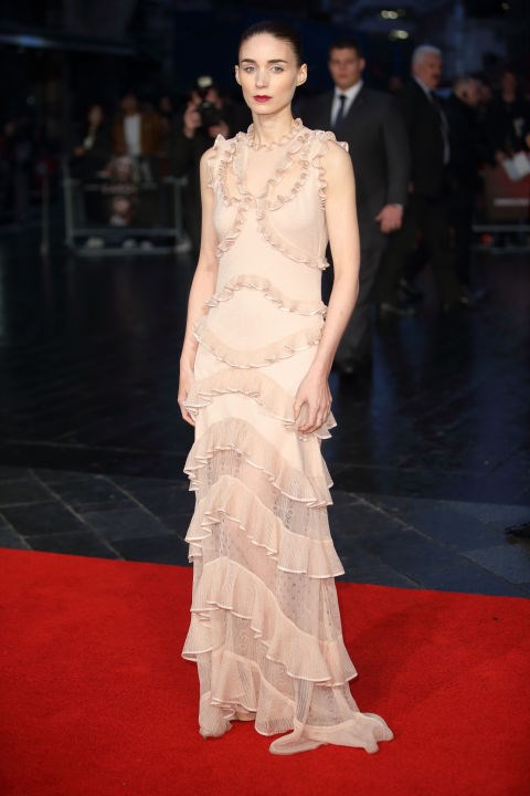 <strong>ROONEY MARA IN ALEXANDER MCQUEEN</strong> <br><br> Attending a screening of Carol during the BFI London Film Festival, October 14.