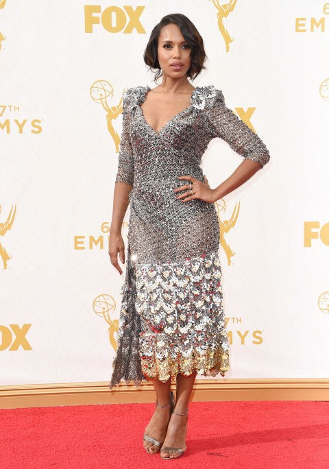<strong>KERRY WASHINGTON IN MARC JACOBS</strong> <br><br> Attending the 67th Annual Emmy Awards, September 20.