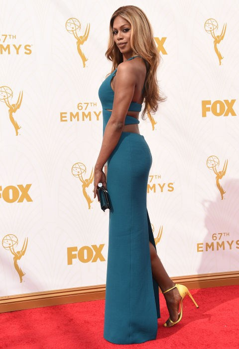 <strong>LAVERNE COX IN CALVIN KLEIN COLLECTION</strong> <br><br> Attending the 67th Annual Emmy Awards, September 20.