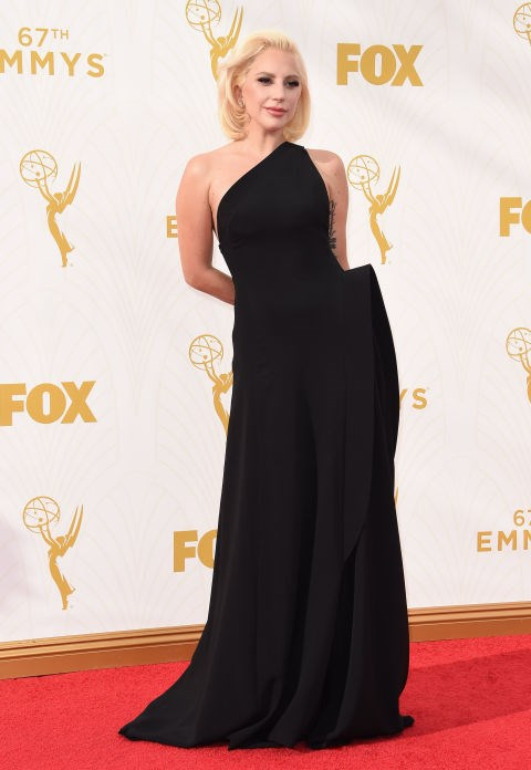 <strong>LADY GAGA IN BRANDON MAXWELL</strong> <br><br> Attending the 67th Annual Emmy Awards, September 20.