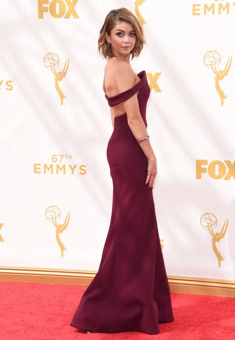 <strong>SARAH HYLAND IN ZAC POSEN</strong> <br><br> Attending the 67th Annual Emmy Awards, September 20.