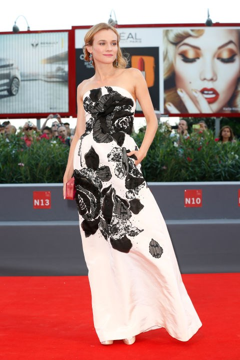 <strong>DIANE KRUGER IN OSCAR DE LA RENTA</strong> <br><br> Attending the 72nd Venice Film Festival, September 9.