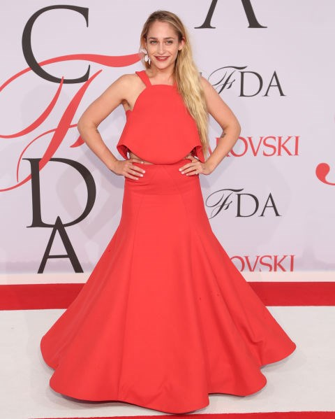 <strong>JEMIMA KIRKE IN ROSIE ASSOULIN</strong> <br><br> Attending the 2015 CFDA Fashion Awards, June 1.