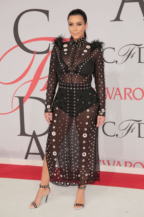 <strong>KIM KARDASHIAN IN PROENZA SCHOULER</strong> <br><br> Attending the 2015 CFDA Fashion Awards, June 1.