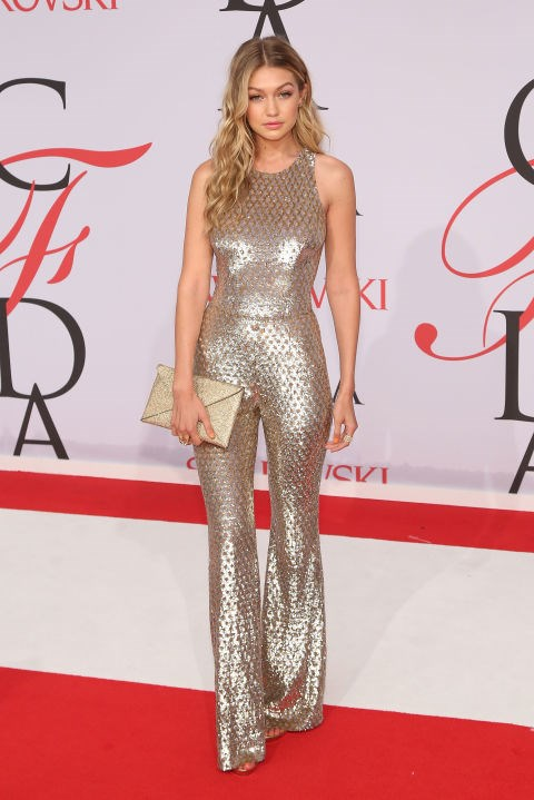 <strong>GIGI HADID IN MICHAEL KORS</strong> <br><br> Attending the 2015 CFDA Fashion Awards, June 1.