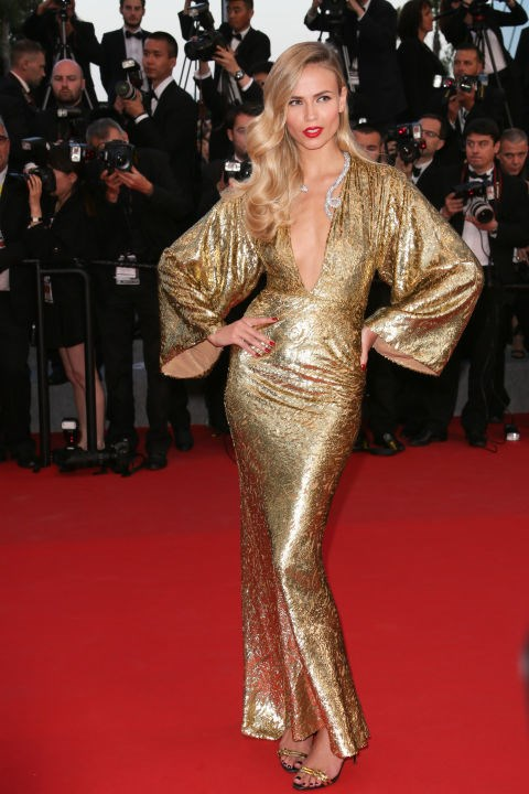 <strong>NATASHA POLY IN MICHAEL KORS</strong> <br><br> Attending the 68th annual Cannes Film Festival, May 16.