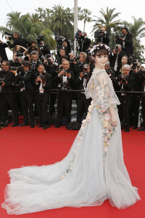 <strong>FAN BINGBING IN MARCHESA</strong> <br><br> Attending the 68th annual Cannes Film Festival, May 14.