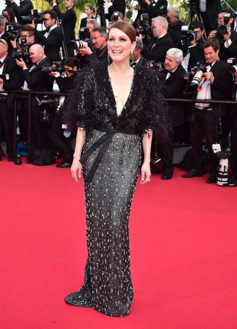<strong>JULIANNE MOORE IN ARMANI PRIVÉ</strong> <br><br> Attending the 68th annual Cannes Film Festival, May 13.