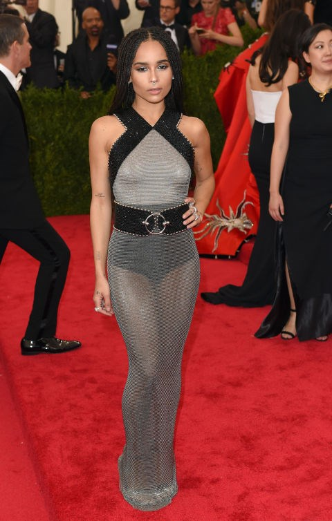 <strong>ZOE KRAVITZ IN ALEXANDER WANG</strong> <br><br> Attending the <em>China: Through the Looking Glass</em> Costume Institute Benefit Gala at Metropolitan Museum of Art, May 4.
