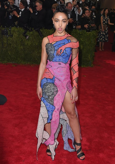 <strong>FKA TWIGS IN CHRISTOPHER KANE</strong> <br><br> Attending the <em>China: Through the Looking Glass</em> Costume Institute Benefit Gala at Metropolitan Museum of Art, May 4.