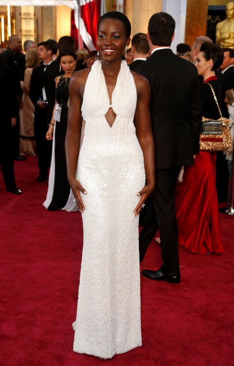 <strong>LUPITA NYONG'O IN CALVIN KLEIN COLLECTION</strong> <br><br> Attending the 87th Annual Academy Awards, February 22.