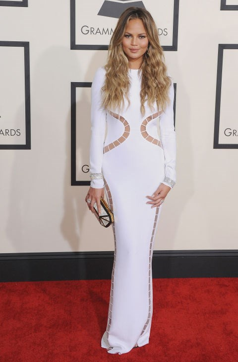 <strong>CHRISSY TEIGEN IN EMILIO PUCCI</strong> <br><br> Attending the 57th Annual Grammy Awards, February 8.