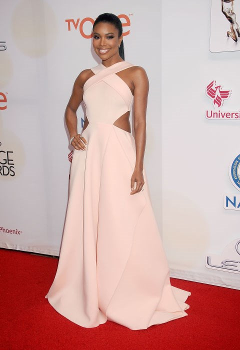 <strong>GABRIELLE UNION IN GAURI & NAINIKA</strong> <br><br> Attending the 46th Annual NAACP Image Awards, February 6.