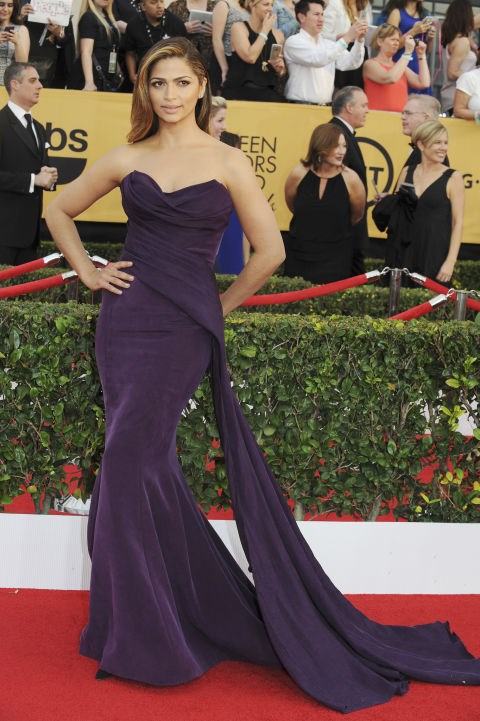 <strong>CAMILA ALVES IN DONNA KARAN ATELIER</strong> <br><br> Attending the 21st Annual Screen Actors Guild Awards, January 25.