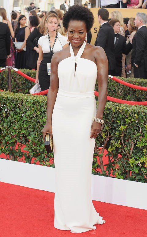 <strong>VIOLA DAVIS IN MAX MARA</strong> <br><br> Attending the 21st Annual Screen Actors Guild Awards, January 25.