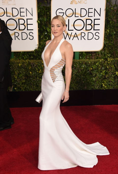 <strong>KATE HUDSON IN ATELIER VERSACE</strong> <br><br> Attending the 72nd Annual Golden Globe Awards, January 11.