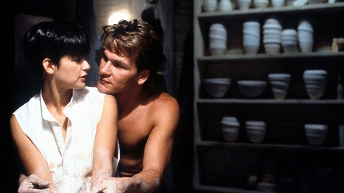 <strong>12. GHOST (1990)</strong> <br><br> Who knew a supernatural love story could be so moving? Who knew pottery could be so sexy? Who knew a movie could make you cry so much?