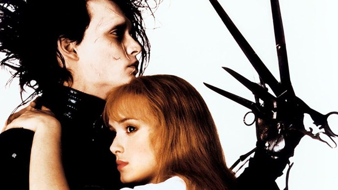 <strong>25. EDWARD SCISSORHANDS (1991)</strong> <br><br> Tim Burton's unconventional love story is all the more romantic since Johnny Depp and Winona Ryder met, and fell in love, while shooting.