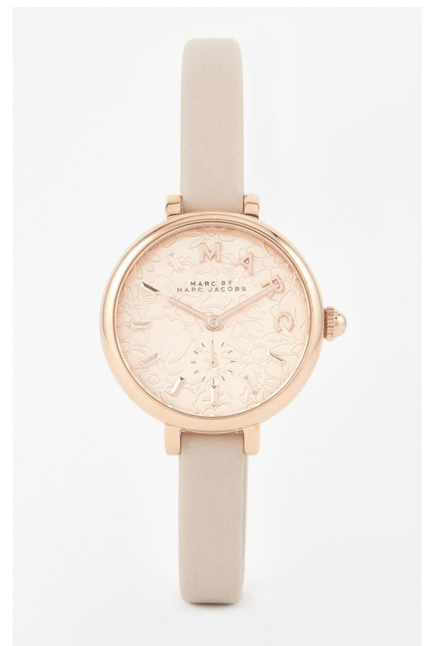 "Rose Gold Watch, $391, Marc Jacobs, <a href=""http://www.asos.com/au/Marc-Jacobs/Marc-Jacobs-Sally-Grey-Leather-MJ1421-Watch/Prod/pgeproduct.aspx?iid=5671784&cid=4175&Rf900=1624&sh=0&pge=0&pgesize=204&sort=-1&clr=Grey&totalstyles=383&gridsize=3"">asos.com/au/</a>"