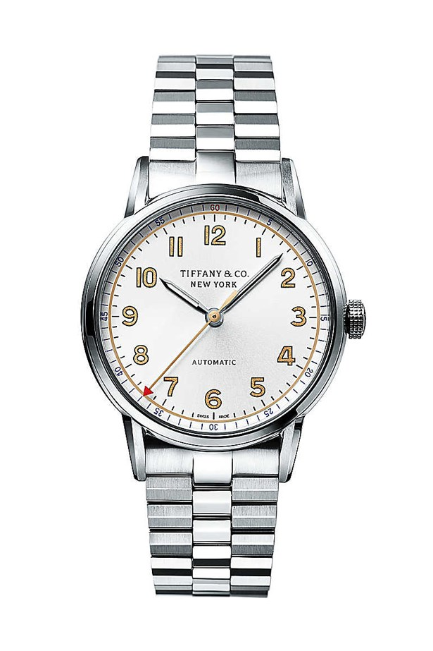 "Silver Watch, $6100, Tiffany & Co., <a href=""http://www.tiffany.com.au/watches/all-watches/tiffany-ct60-3-hand-34-mm-34668329?&fromGrid=1&search_params=p+1-n+10000-c+288186-s+5-r+-t+-ni+1-x+-lr+-hr+-ri+-mi+-pp+100+2&search=0&origin=browse&searchkeyword=&trackpdp=bg&fromcid=288186"">tiffany.com.au</a>"