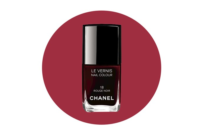 "For nails, turn heads with a vampy oxblood manicure <a href=""http://www.chanel.com/en_AU/fragrance-beauty/makeup/nails/nail-colour/le-vernis-nail-colour-p128000.html?sku=0159737#page-1"">by Chanel</a>."