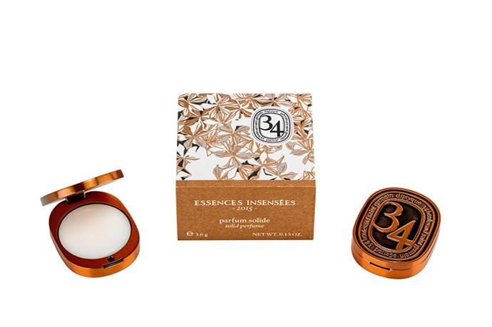 <strong>Essences Insensées Solid Perfume, $72, Diptyque, mecca.com.au </strong> <br><br>Strictly limited-edition for Christmas, the luxe, handbag-friendly copper locket features strong notes of Jasmine only harvested once a year from Grasse, making the scent just as special as its exterior.