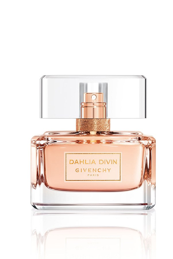 <strong>Dahlia Divin EDT, $112 for 50mL, Givenchy, (02) 9695 5678</strong> <br><br>Blood orange, peach, rose and sandalwood means it strikes the perfect mix of fruity and floral, perfect for the unabashed girly-girl.