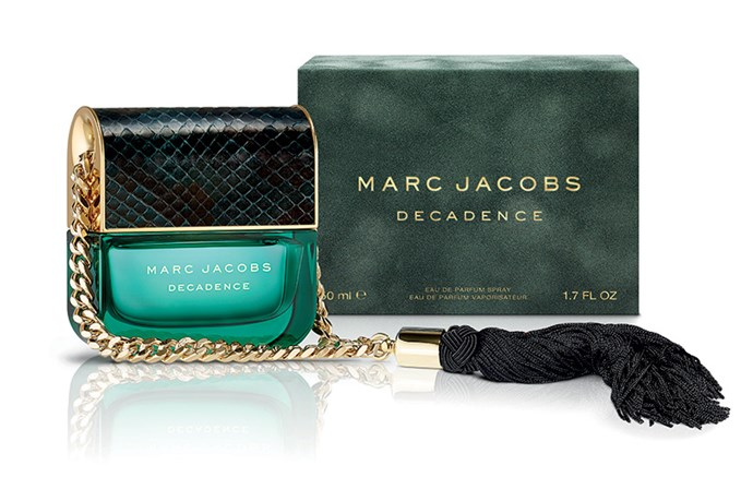 <strong>Decadence, $150 for 50mL, Marc Jacobs, 1800 812 663</strong> <br><br>For the girl who loves her glamour, the fashion house brings their signature wit, offering a new take on the 'purse fragrance'.