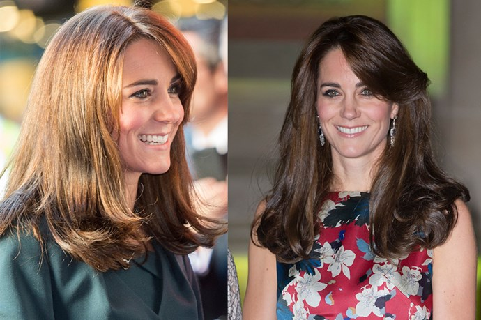 <p> <strong>Kate Middleton</strong></p> <p>Whenever the Duchess of Cambridge does something to her hair it's kind of a big deal. We mean, have you seen the woman's glossy blow-dry? <br> First came the bangs, now Kate has chopped a few inches off that famous mane and we think the shorter do is super chic. <br>It's not quite a lob, but who can say what the Duchess will do next? She's kind of on a hair roll. </p>