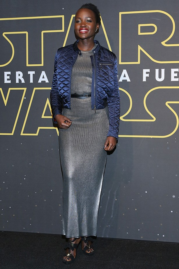 Could Lupita Nyong-o look any dreamier in this shimmery Louis Vuitton number? Unlikely! May the force be with her. Always. Image: Getty