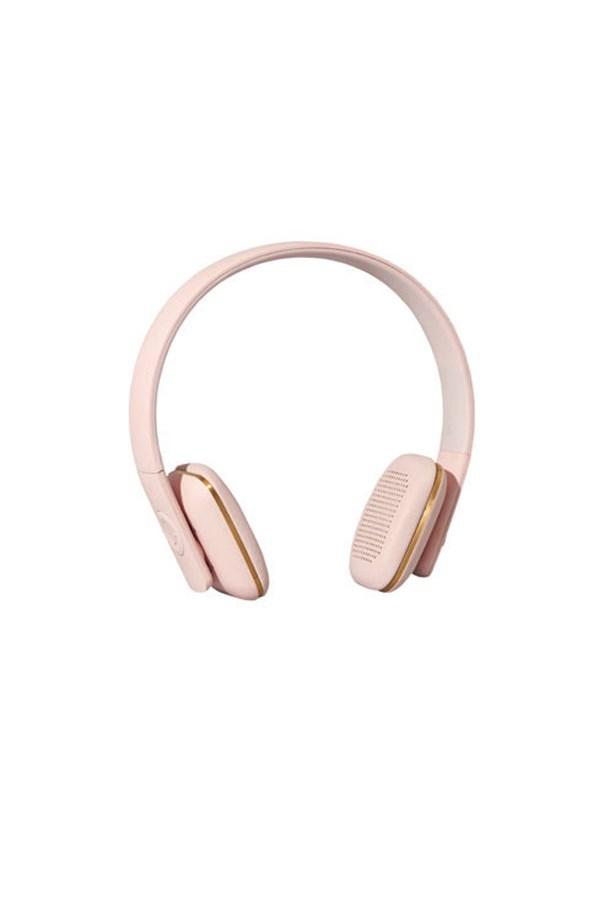 "Kreadunk Headphones, $180.00, <a href=""http://www.myer.com.au/shop/mystore/electrical/headphones/kreafunk-kreafunk-kfhe-pin-ahead-bluetooth--174%3B-on-ear-headphones-pink"">Myer</a>."