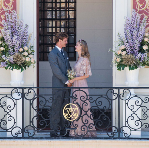 BEATRICE BORROMEO In July, royal adjacent, Beatrice Borromeo, married Monaco's Pierre Casiraghi, Grace Kelly's royal grandson, in Valentino—one of the year's only colored dresses. INSTAGRAM