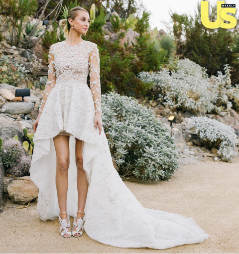 WHITNEY PORT Whitney Port had one of the year's least traditional wedding dresses, choosing an Ashi Studios design that had a waterfall hemline for her wedding to Tim Rosenman in November. TWITTER