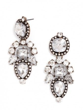 "<strong>STATEMENT EARRINGS</strong> <br><br> Similar styles available at <a href=""http://www.baublebar.com/earrings/drop-earrings.html"">www.baublebar.com</a>"