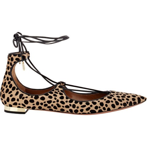 "<strong>AQUAZURRA CHRISTY FLAT</strong> <br><br> <a href=""http://www.barneys.com/aquazzura-christy-lace-up-flats-503643216.html?utm_source=TnL5HPStwNw&utm_medium=affiliate&siteID=TnL5HPStwNw-T1msN7NDsOSrg1EwyWQATg"">www.barneys.com</a>"