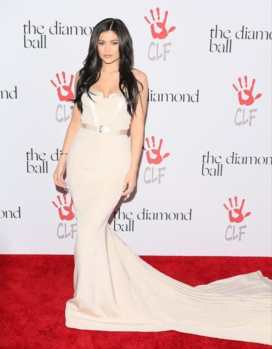 Kylie Jenner attends Rihanna's Diamond Ball, Los Angeles, December 2015.