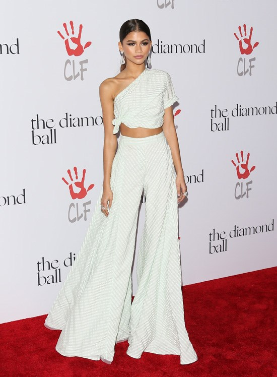 Zendaya attends Rihanna's Diamond Ball, Los Angeles, December 2015.