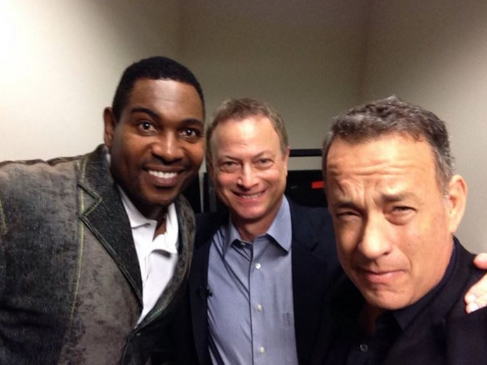 """<strong>Forrest Gump</strong> <br><br> Tom Hanks <a href=""""http://www.whosay.com/TomHanks"""">tweeted</a> this photo, captioning it """"Hadn't seen these old friends for too long""""."""