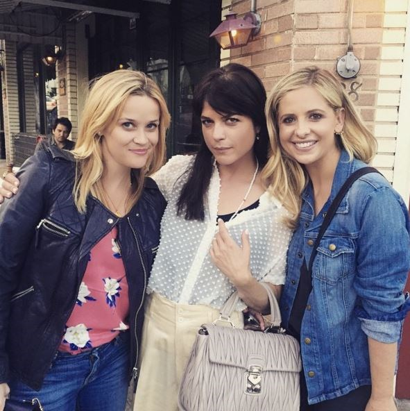 """<strong>Cruel Intentions</strong> <br><br> Reese Witherspoon, Selma Blair and Sarah Michelle Gellar <a href=""""https://www.instagram.com/p/3QBeo4JUpd/"""">all reunited</a> to see Cruel Intentions The Musical. How fitting."""