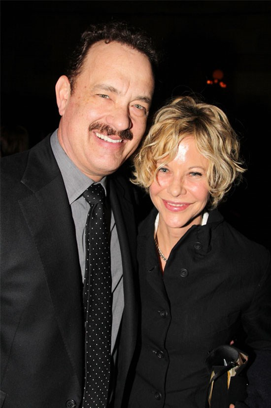 <strong>Sleepless In Seattle</strong> <br><br> Meg Ryan and Tom Hanks, 20 years later, at the Broadway opening night of Tom's play 'Lucky Guy'.