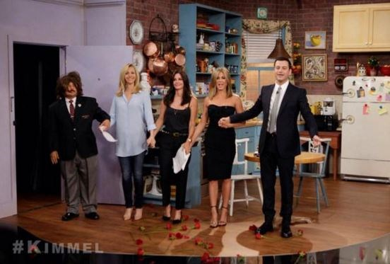 """<strong>Friends</strong> <br><br> The three best friends that anyone could have <a href=""""https://twitter.com/jimmykimmel/status/504817683125133312"""">reunited on Jimmy Kimmel's show</a> in August last year. Lisa Kudrow, Courtney Cox and Jennifer Aniston each played Phoebe Buffay, Monica Geller and Rachel Green, respectively, on arguably one of the best TV shows EVER, Friends."""