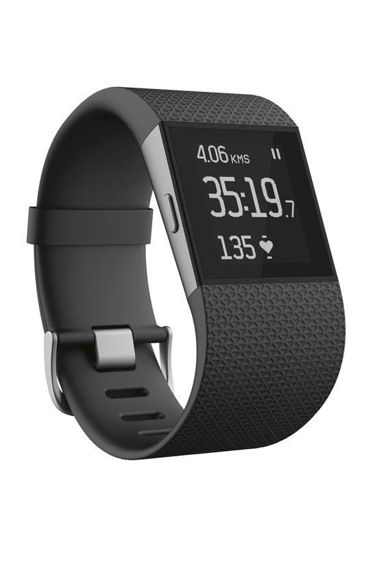 "Fitbit Surge Fitness Super Watch, $399.95, <a href=""http://www.myer.com.au/shop/mystore/fitbit-surge-fittness-super-watch-black-lrg-316161640"">Myer</a>"