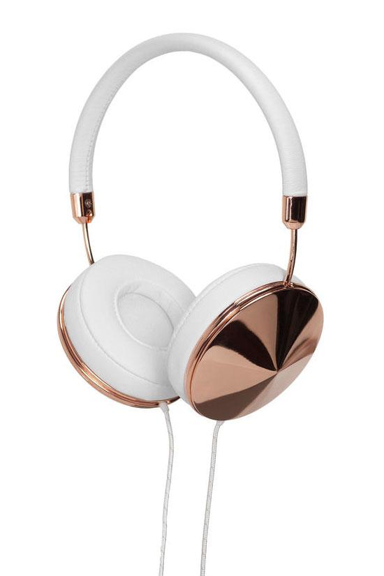 "Frends Taylor on-ear headphones in White & Rose Gold, $299.00, <a href=""http://www.myer.com.au/shop/mystore/shop-the-giftorium/taylor-on-ear-headphones-rose-gold---white-248681980"">Myer</a>"
