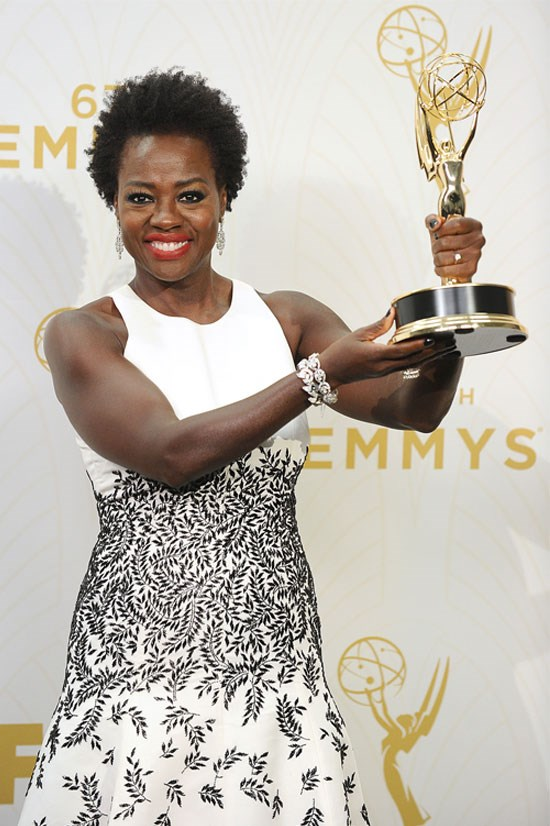 """<strong>Viola Davis</strong> <br><br> Viola Davis made history this year when she became the first African-American woman EVER to win Best Actress in a Drama Series at the Emmy Awards in September. <a href=""""http://www.nytimes.com/live/emmys-2015/viola-daviss-emotional-emmys-acceptance-speech/"""">Her speech was epically epic</a>. """"And let me tell you something: the only thing that separates women of colour from anyone else is opportunity. You cannot win an Emmy for roles that are simply not there""""."""