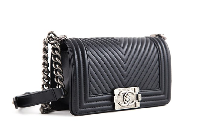 """<strong>Danielle Cartisano, Market Editor</strong> <br><br>""""My Chanel boy bag! It has since become my best friend. My dream bag became a reality thanks to my personal shopper Genevra Leek who got it at the Chanel Paris boutique while she was overseas covering the collections."""" <br><br>Small Boy Bag in Chevron, $POA, Chanel, 1300 242 635"""