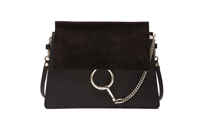 """<strong>Dee Jenner, Style Editor</strong> <br><br>""""My Chloe Faye bag. It was the last one left in the Sloane St store (my happy place!) when I was visiting London in May. I left to think about it, checked my bank account (pay day!) and went straight back to snap it up. I've used it every day since."""" <br><br>Bag, $2703, Chloe, fwrd.com"""