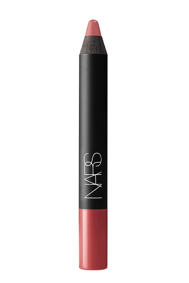 """<strong>Claudia Jukic, PA to Justine Cullen/Editorial and Fashion News Coordinator</strong> <br><br>""""Amongst a sea of matte, Jenner-y browns and nudes, I finally found my perfect everyday lip colour – NARS Dolce Vita. It's the perfect hybrid of peach/pink/brown and I don't even know how I did my makeup before we found each other."""" <br><br>Velvet Matte Lip Pencil in Dolce Vita, $39, NARS, mecca.com.au"""