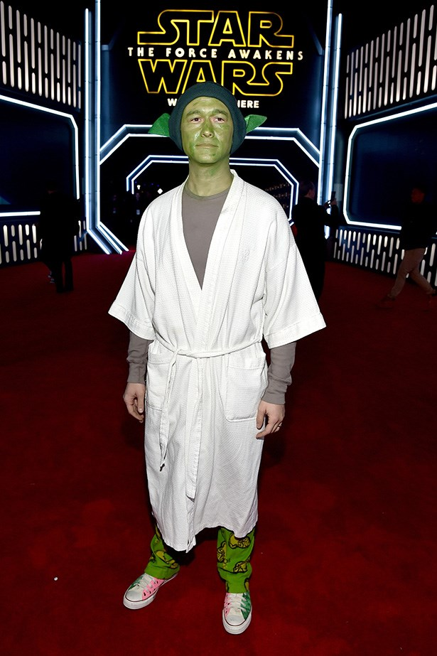 Joseph Gordon-Levitt as BATHROBE YODA.